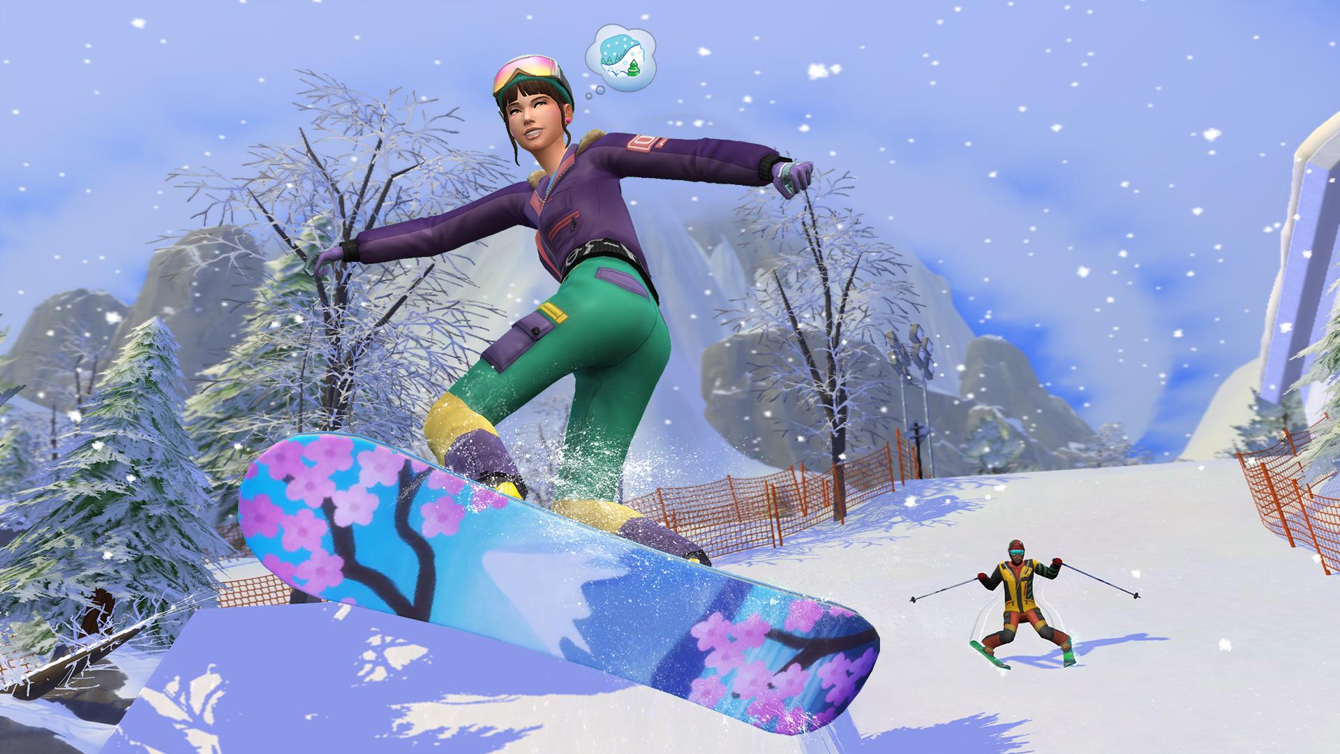 the sims 4 snowy escape wallpaper 73077