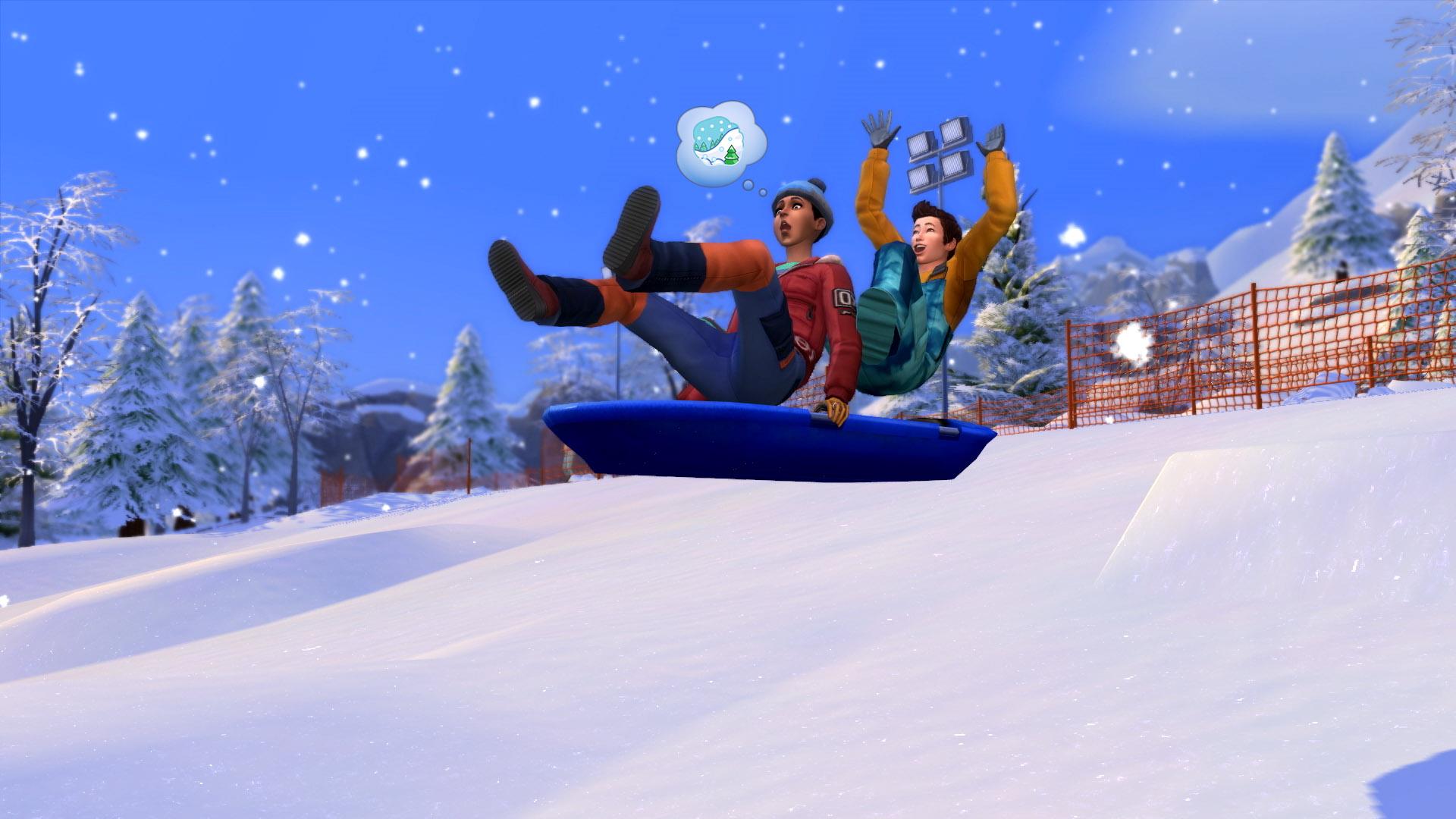 the sims 4 snowy escape wallpaper 73085