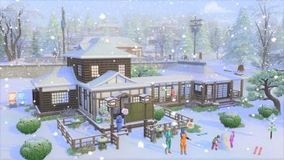 The Sims 4 Snowy Escape Cabin Wallpaper 73083