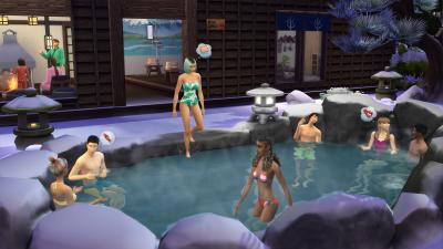 The Sims 4 Snowy Escape Gameplay Wallpaper 73076
