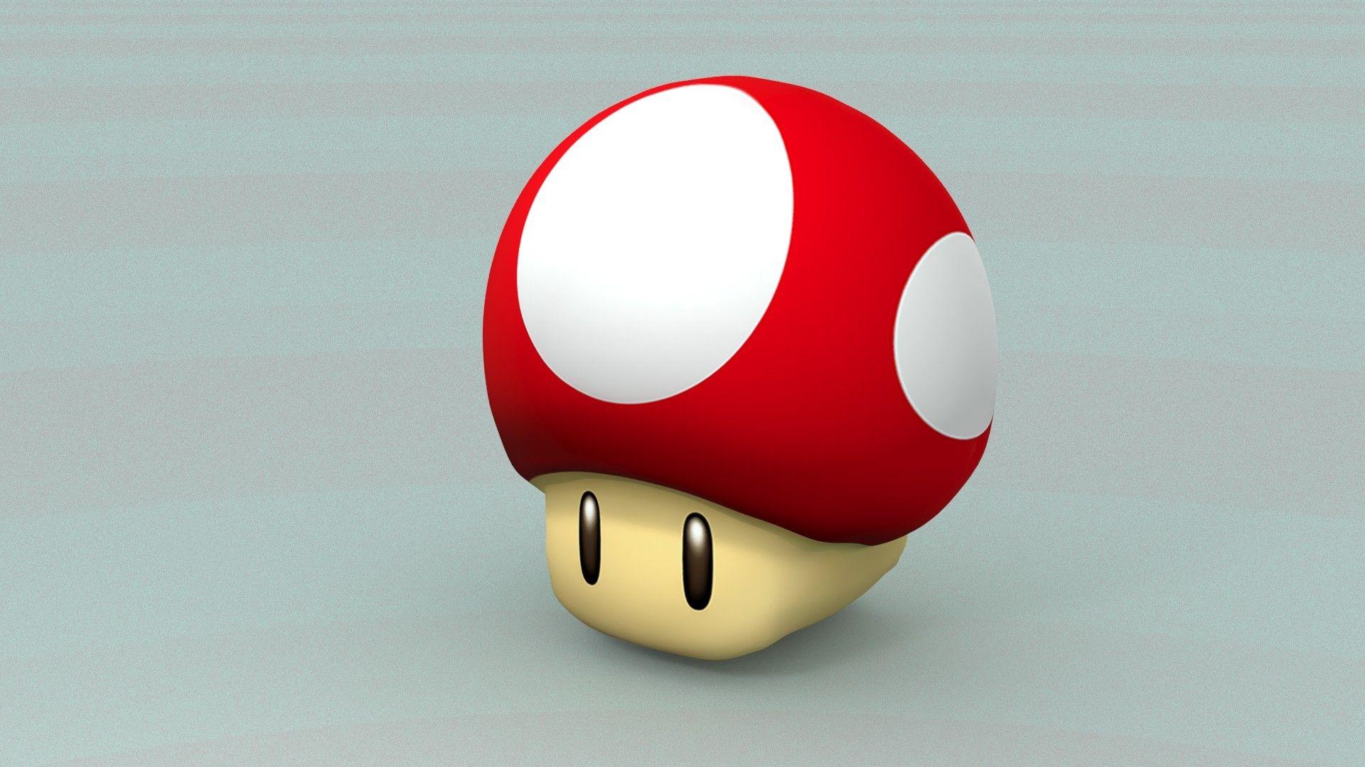 3d mario mushroom wallpaper 74156