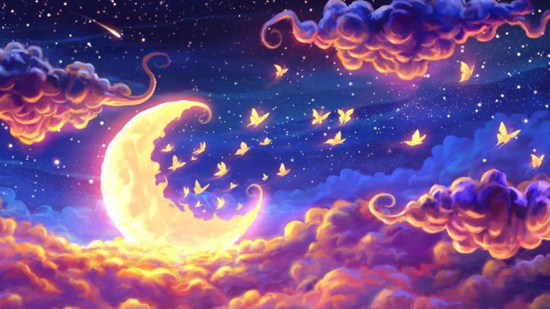 abstract moon hd wallpaper 73035