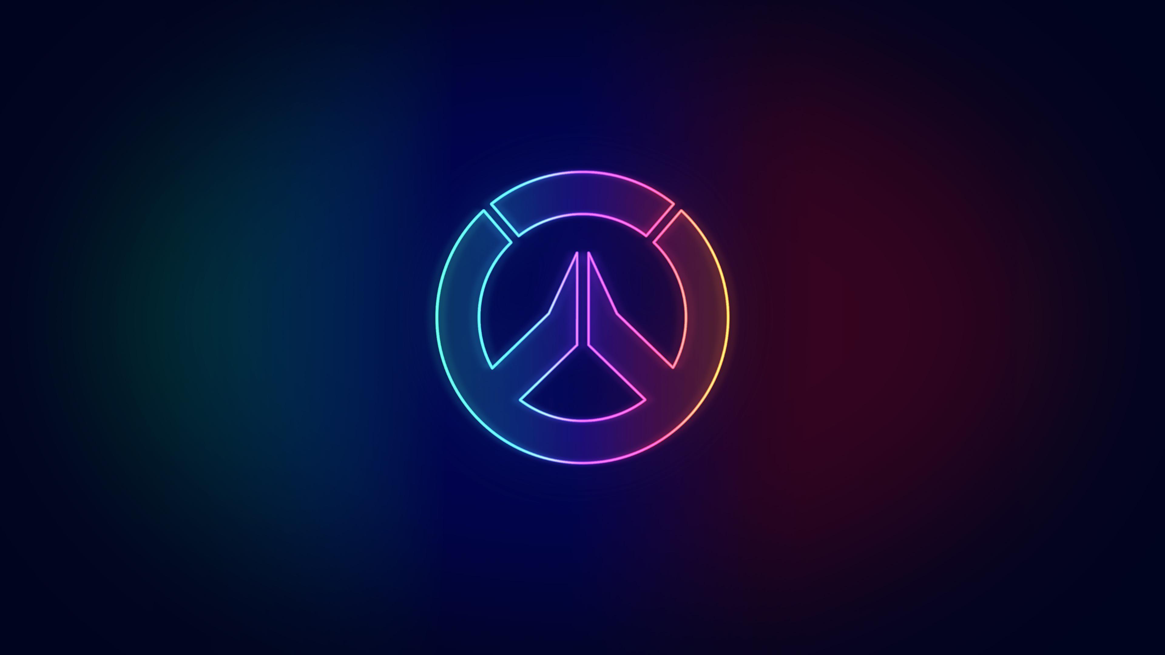 neon overwatch logo wallpaper 73660