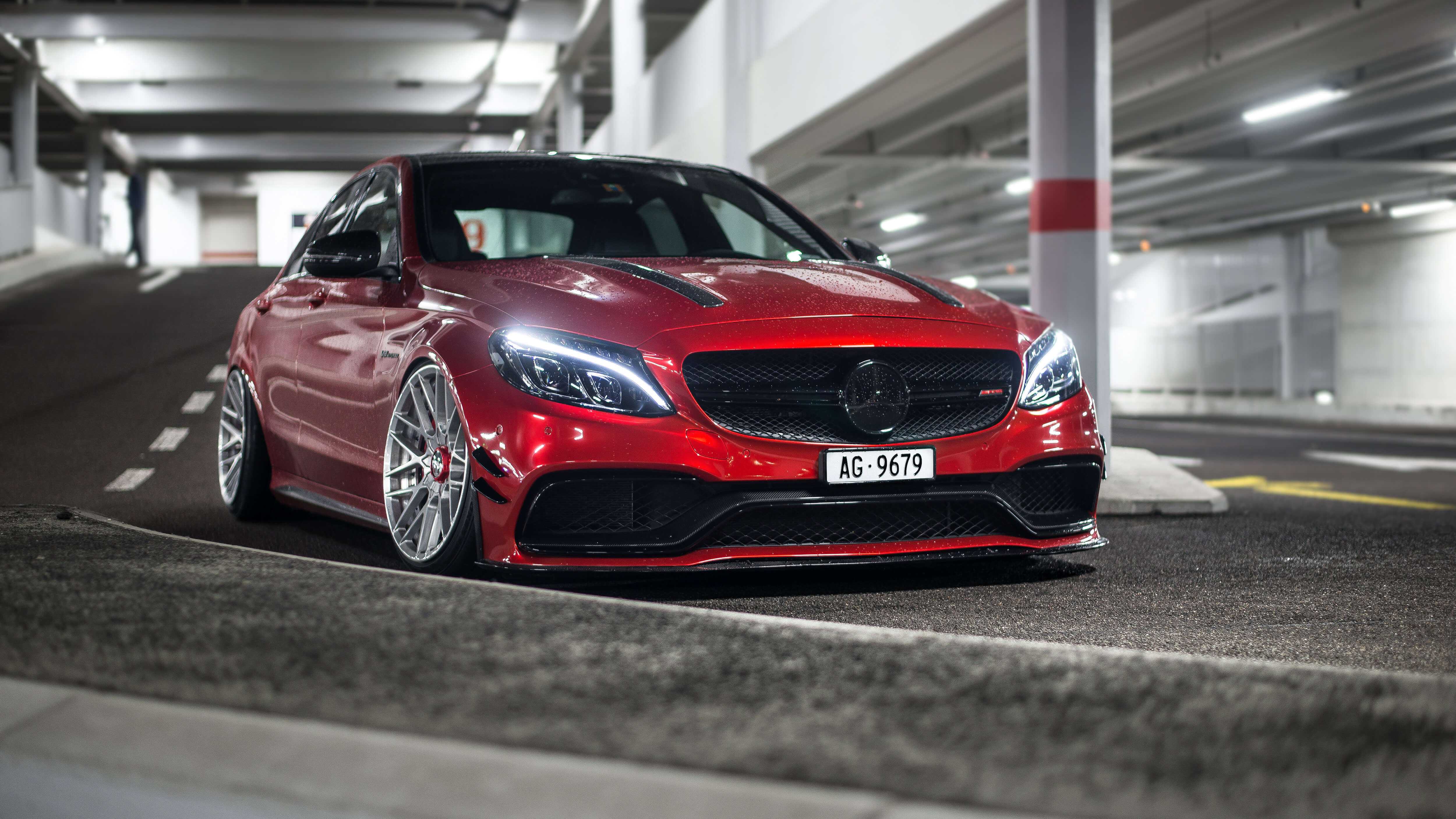 red mercedes c63 hd wallpaper 74184