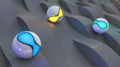 3D Balls Surface Wallpaper 73038