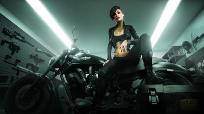 Fantasy Biker Girl Wallpaper 73523