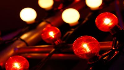 Red Light Bulbs Background Wallpaper 73703