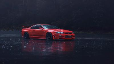 Red Nissan GTR R34 Wallpaper 72768