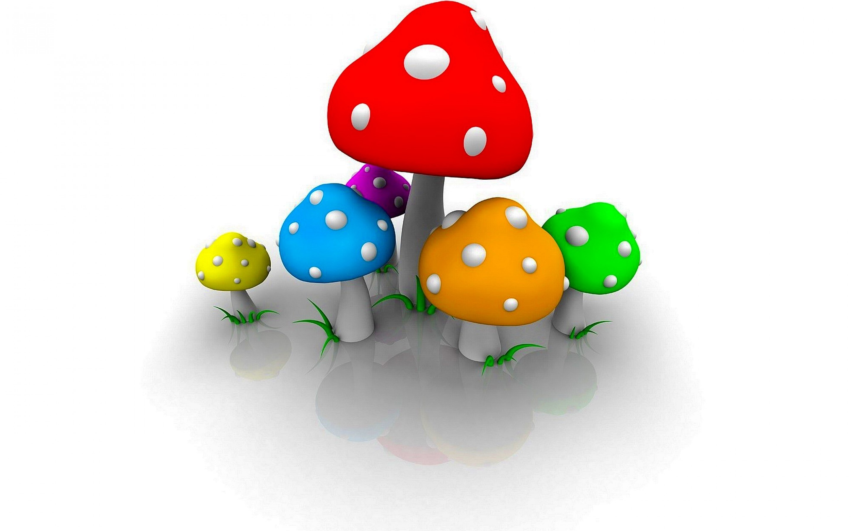 3d mushrooms wallpaper 73628
