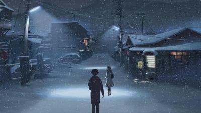 Anime Winter Desktop Wallpaper 73466