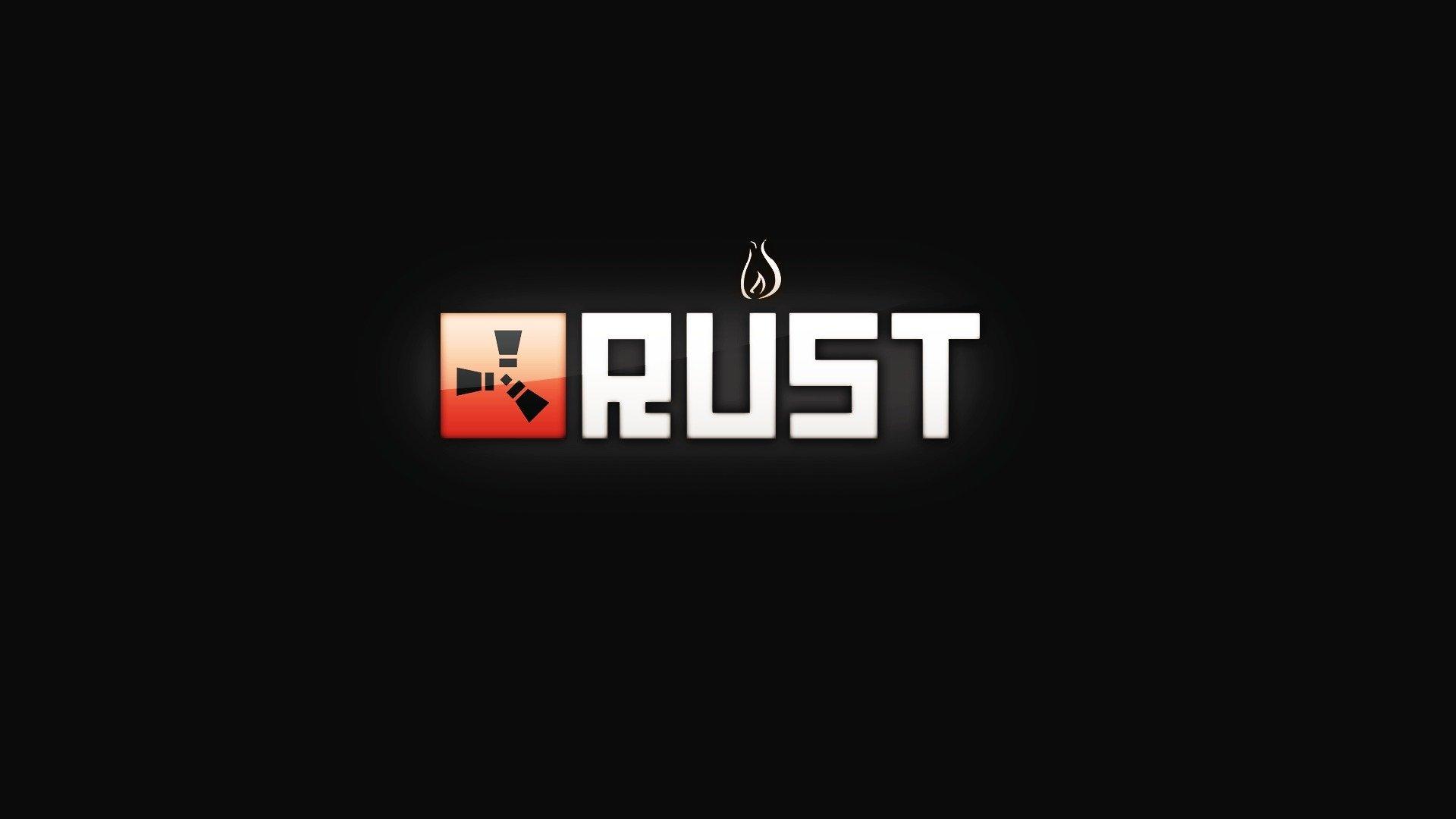 rust game logo wallpaper 74564