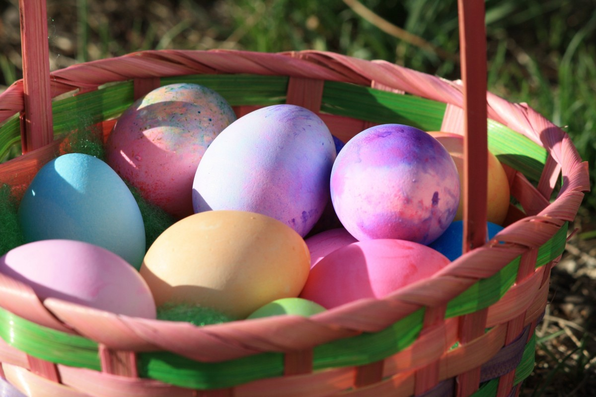colorful easter eggs wallpaper 73932