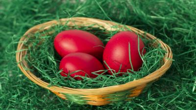 Red Easter Eggs Wallpaper 73933