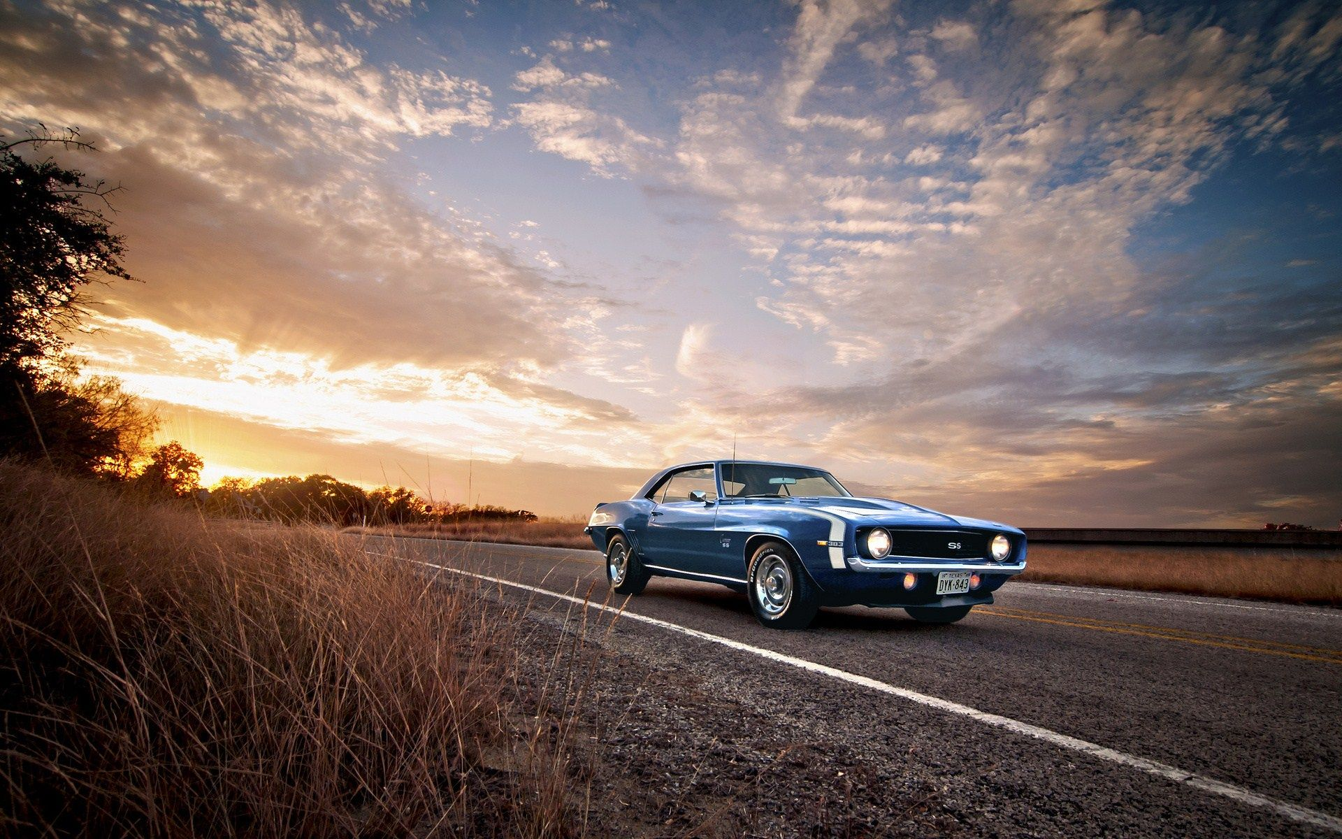 muscle car road hd wallpaper 72955