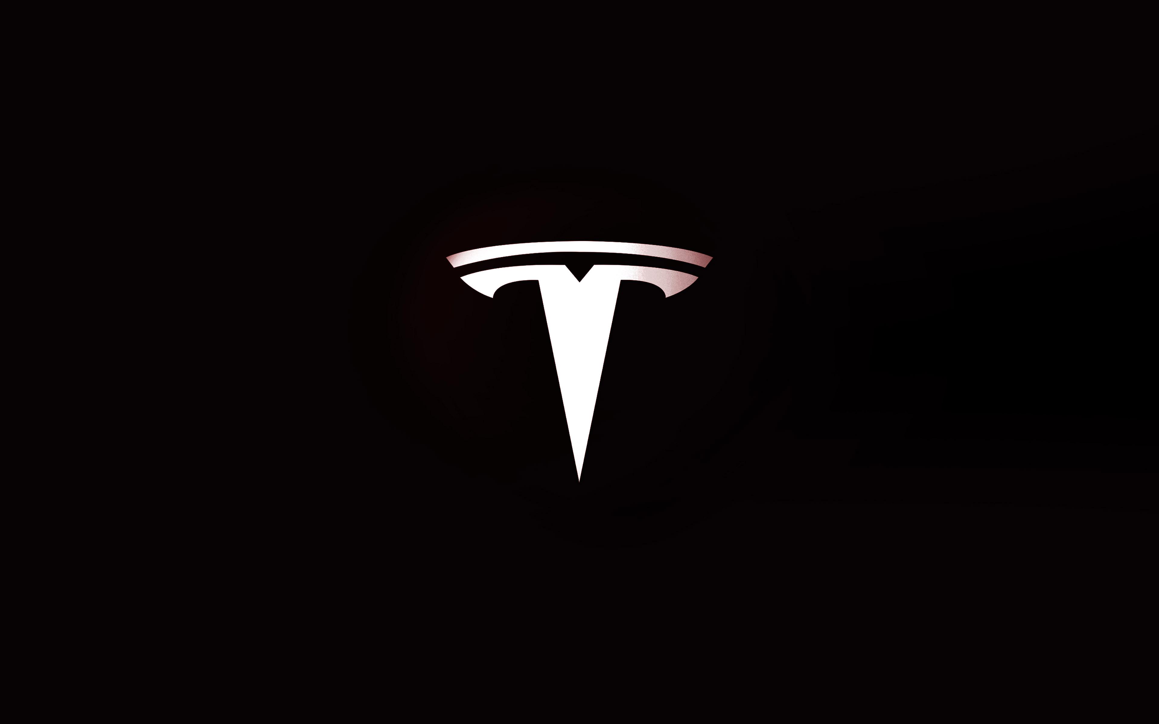 tesla logo widescreen wallpaper 73699