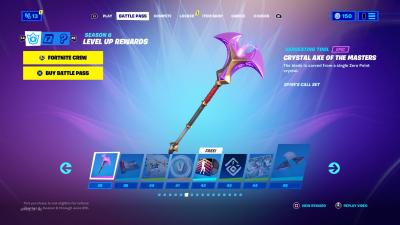 Fortnite Crystal Axe of the Masters Wallpaper 73860