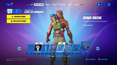 Fortnite Dino Deck Wallpaper 73858