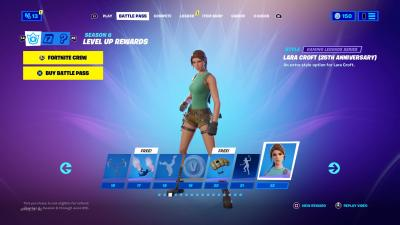 Fortnite Lara Croft Anniversary Wallpaper 73853