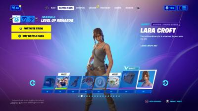 Fortnite Lara Croft Wallpaper 73850