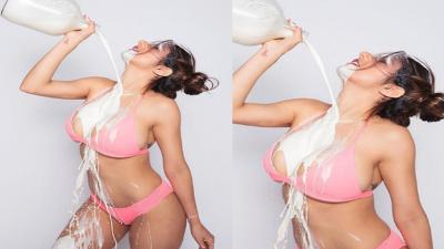 Mia Khalifa Sexy Spilled Milk HD Wallpaper 62092