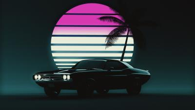 Muscle Car Retro Background Wallpaper 72954