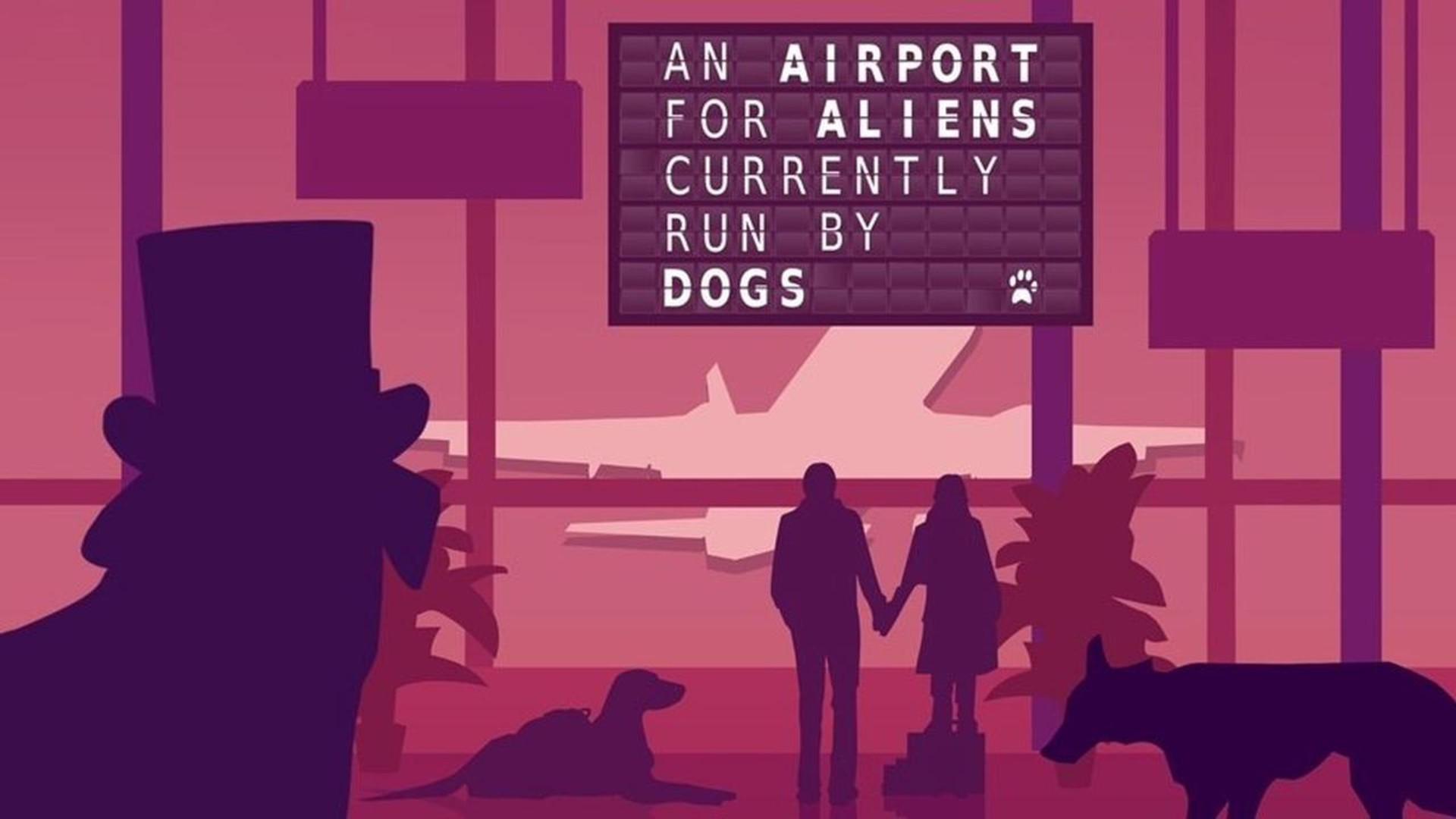 an airport for aliens currently run by dogs game wallpaper 75249